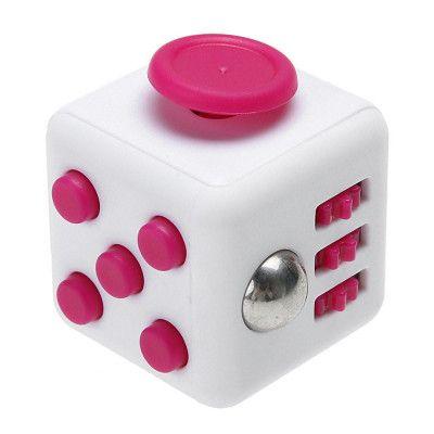 Fidget Cube - Vit/Rosa