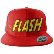 The Flash Text Logo Snapback Cap, Adjustable Snapback Cap