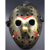 Jason Fredag den 13 Inspirerad Guldfärgad Hockeymask