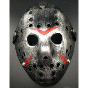 Jason Fredag den 13 Inspirerad Silverfärgad Hockeymask