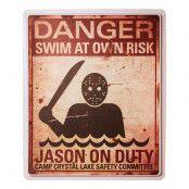 Skylt Jason On Duty