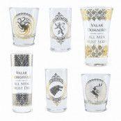 Game Of Thrones Shotglas Premium 6-pack