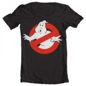 Ghostbusters Distressed Logo Wide Neck Tee, Wide Neck T-Shirt