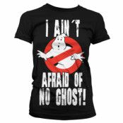Ghostbusters I Ain´t Afraid T-Shirt Dam Svart, MEDIUM