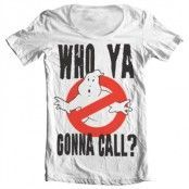 Who Ya Gonna Call? Wide Neck Tee, Wide Neck T-Shirt