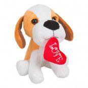 Mjukisdjur Hund med Hjärta