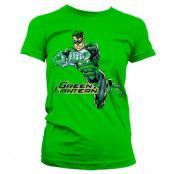 Green Lantern Distressed Girly Tee, Girly T-Shirt