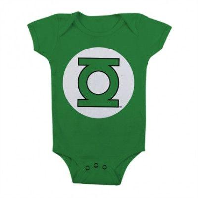 Green Lantern Logo Baby Body, Baby Body