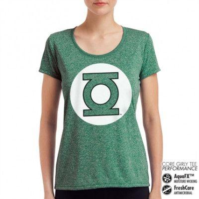Green Lantern Logo Performance Girly Tee, CORE PERFORMANCE GIRLY TEE