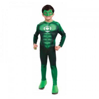 Green Lantern med Muskler Barn Maskeraddräkt