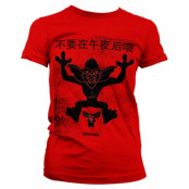 Chinese Gremlins Poster Girly Tee, Girly Tee