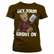 Get Your Groot On Girly Tee, Girly Tee
