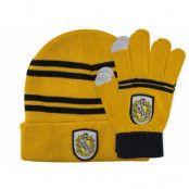 Harry Potter - Hufflepuff Beanie & Gloves Set for Kids
