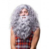 Peruk, Hagrid med skägg