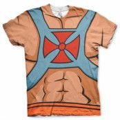 Master Of The Universe - He-Man Allover T-Shirt, Modern Fit Polyester Tee