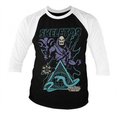 Skeletor - Bad To The Bone Baseball 3/4 Sleeve Tee, Baseball 3/4 Sleeve Tee