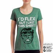 The Hulk - I´d Flex But I Like This Shirt Performance Girly Tee, CORE PERFORMANCE GIRLY TEE