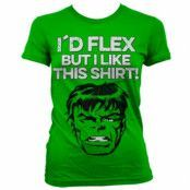 The Hulk - I´d Flex Girly T-Shirt, Girly Tee