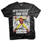 Iron Man Cover T-Shirt Svart