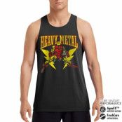 Iron Man Likes Heavy Metal Performance Singlet , CORE PERFORMANCE MENS SINGLET