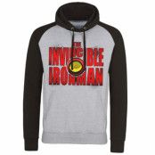 The Invincible Ironman Bold Baseball Hoodie, Baseball Hooded Pullover