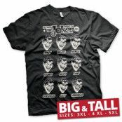 The Many Moods Of The Joker Big & Tall T-Shirt, Big & Tall T-Shirt