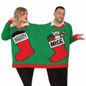 Jultröja dubbel, naughty or nice