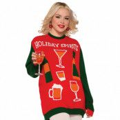 Jultröja, holiday spirits-XL