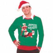 Jultröja, naughty santa-XL