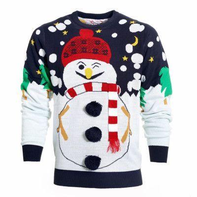 Fräcka snögubbens jultröja