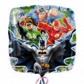 Justice League Superheroes kvadratisk folieballong - 46 cm