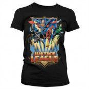 Justice League - Team Up! Girly T-Shirt, Girly T-Shirt