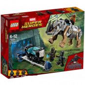 LEGO Marvel Super Heroes Black Panther Rhino Face Off By The
