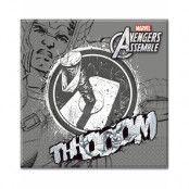 20 stk Thor Servietter 33x33 cm - Marvel Avengers Assemble