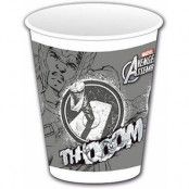 8 stk Thor Plastkoppar 200 ml - Marvel Avengers Assemble