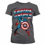 Captain America Girly T-Shirt, Girly T-Shirt