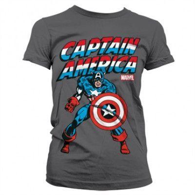 Captain America Girly T-Shirt, Girly T-Shirt