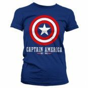 Captain America Logo Girly T-Shirt , Girly Tee