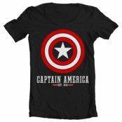 Captain America Logo Wide Neck Tee, Wide Neck Tee