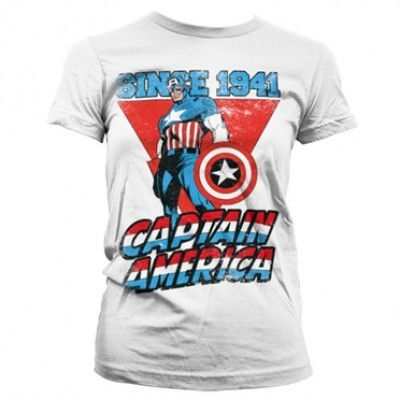 Captain America Since 1941 Girly T-Shirt, Girly T-Shirt