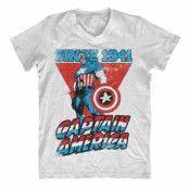 Captain America Since 1941 V-Neck T-Shirt, V-Neck T-Shirt