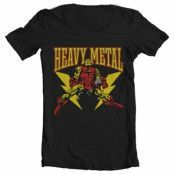 Iron Man Likes Heavy Metal Wide Neck Tee, Wide Neck T-Shirt