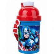 Licensierad Avengers Drickflaska med Bärrem till Barn 400 ml