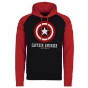 Marvel Comics - Captain America Logo Baseball Hoodie, Baseball Hooded Pullover
