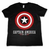 Marvel Comics - Captain America Logo Kids T-Shirt, Kids T-Shirt