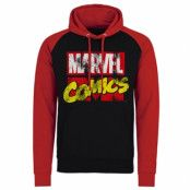 Marvel Comics Retro Logo Baseball Hoodie, Baseball Hooded Pullover