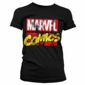 Marvel Comics Retro Logo Girly T-Shirt, Girly T-Shirt
