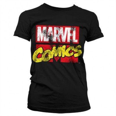 Marvel Comics Retro Logo Girly T-Shirt, Girly T-Shirt