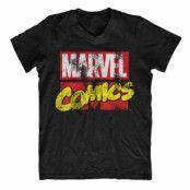 Marvel Comics Retro Logo V-Neck Tee, V-Neck T-Shirt