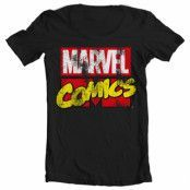 Marvel Comics Retro Logo Wide Neck Tee, Wide Neck T-Shirt